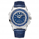AAA grade Patek Philippe Complications Blue Dial Automatic 18K White Gold 5930G-001 Replica