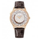 Best Patek Philippe World Time 7130 Rose Gold / Ivory 7130R-011 Replica Watch sale