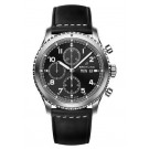 Breitling Navitimer 8 Chronograph Black Dial Leather Strap Watch fake