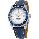 Fake Breitling Superocean Heritage Automatic Silver Dial Blue Leather A1732116/G717/112X/A20D.1