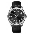 fake Breitling Navitimer 8 Day & Date Black Dial Leather Strap Watch