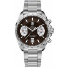 TAG Heuer Grand Carrera Calibre 17 Replica Steel Brown Dial Chronograph CAV511E.BA0902