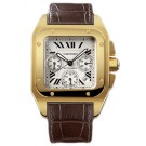 Fake Cartier Santos 100 Chronograph Automatic Yellow Gold W20096Y1