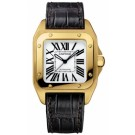Fake Cartier Santos 100 Medium Automatic Yellow Gold W20112Y1