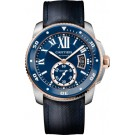 fake Calibre de Cartier Diver blue watch W2CA0008
