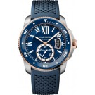 fake Calibre de Cartier Diver blue watch W2CA0009