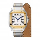Replica Cartier Santos Steel 18K Yellow Gold Automatic Medium W2SA0007