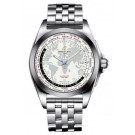 fake Breitling Galactic Unitime Stainless Steel Watch