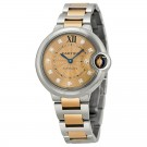 fake Cartier Ballon Bleu Stainless Steel and 18kt Rose Gold Ladies Watch WE902053
