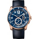fake Calibre de Cartier Diver blue watch WGCA0009