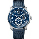 fake Calibre de Cartier Diver blue watch WSCA0011