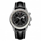 Breitling Navitimer 1461 Limited Edition Crocodile Leather Black Watch Replica A1937012/BA57/760P