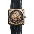 Fake Bell & Ross BR 01 Tourbillon Pink Gold Titanium Watch