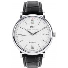 IWC Portofino Silver Dial Black Automatic Men's Watch 356501