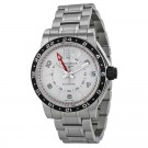 Longines Admiral GMT Silver Dial Stainless Steel Mens Watch L3.668.4.76.6 Replica