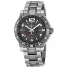 Longines Admiral GMT Grey Dial Steel and Ceramic Mens Watch L3.669.4.06.7 Replica