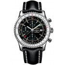 Replica Breitling Navitimer 01 Rose Gold Black Crocodile Deployant RB012012/BB07