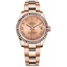 Rolex Oyster Perpetual Datejust Lady 178275 Womens Fluted Bezel Rose Gold Replica Watch - BRAND NEW