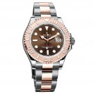 Replica Rolex Yacht-Master Chocolate Dial Steel and 18K Everose Gold Oyster Watch  116621CHSO