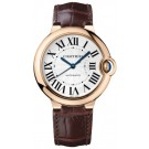 Replica Cartier Ballon Bleu 36mm 18k Rose Gold Silver Dial W6900456